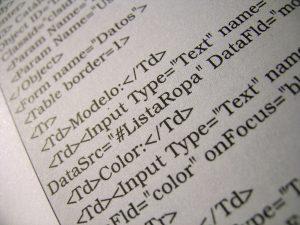 Closeup of different computer script